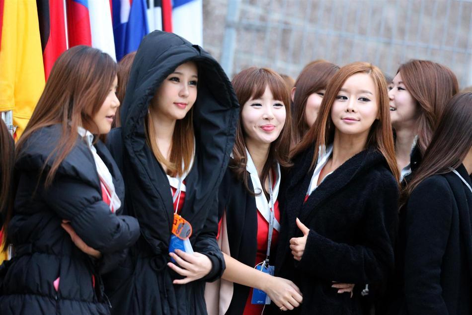 F1韩国站赛车美女宝贝 F1美女车模